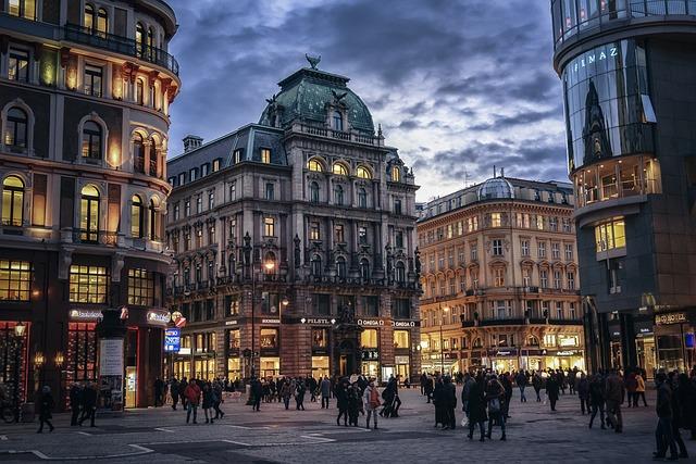 budovy ve Vídni