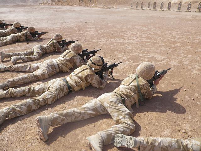 střelba vojáků