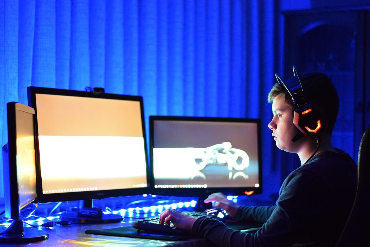 světlo od počítače